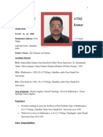 Bio-data ( DR.P.K.SHARMA) as on May 2015.doc
