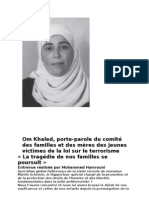 Om Khaled, Porte-parole Du Comité Des Familles