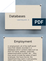 databases - learning aim a