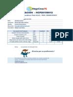 COTIZACIÓN  - NCP20150012