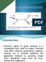Ehanol as Aternate Fuel