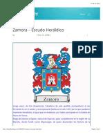 Zamora – Escudo Heráldico | Heraldica Sairaf