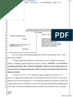 Washington v. Washington State Department of Corrections et al - Document No. 3
