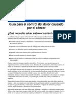 Guía del dolor para enfermos de cáncer