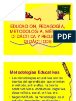 metodologia metodo didactica