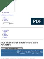 2008 National Seismic Hazard Map