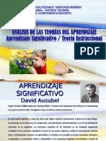 ANÁLISIS de LAS TEORÍAS DEL APRENDIZAJE Aprendizaje Significativo Vrs Aprendizaje Instruccional