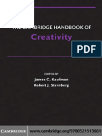 KaufmanSternbergThe Cambridge Handbook of Creativity