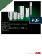 ABB ACS550 Drives Catalogue