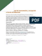 En tiempo real de transmisión y recepción a través de Ethernet.docx