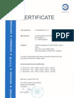 ISO FE OSY Type 1 Zertifikat En