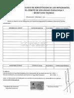 Seccion SINASEC Formulario de Acreditacion de Comite de Seguridad Ciudadana
