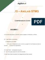 Bac STMG 2015 - anglais