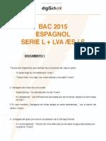 Bac ES/S/L 2015 - espagnol