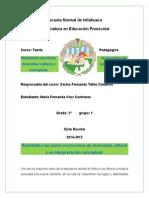 Realidades escolares en procesos de diversidad cultural y su interpretación conceptual.