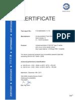 ISO FE Type B Zertifikat En