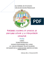 Arana, Maritza. Ensayo de Realidades Escolares en Procesos de Div. Cultural