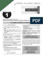 Prova Caderno1 Coltec2015