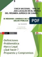Regimen Juridico Canes Salud Publica MTalavera