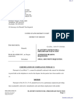Grgurich v. Trail Blazers Inc. - Document No. 6