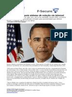 CONSULTCORP F-SECURE Barack Obama Apoia Sistema de Votação via Internet