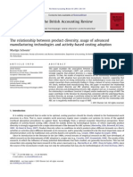 The Relationship Between Product Diversity Usage of Advanced Manufacturing Technologies and Activity Based Costing Adoption 2011 the British Accountin