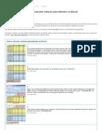 Aprenda a Transformar e Calcular Valores Percentuais No Excel