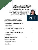 Curriculum Romina