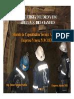 04 Oro y Cianuro - Metalurgia