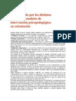 Modelo de orientación psicopedagogica