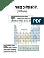 Introducción a los metales de transición