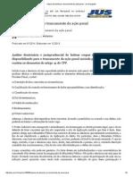 Inépcia Da Denúncia e Trancamento Da Ação Penal - Jus Navigandi