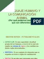 Ppt 1 El Lenguaje Humano y La Comunicación Animal