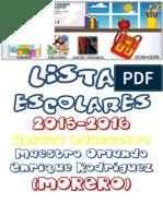 Lista de Utiles Escolares Todos Los Grados Para Web 2015-2016