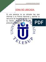 Persona No Ubicada - TELESUP