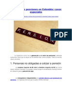 Acceso a Las Pensiones en Colombia - Casos Especiales