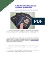 Visa Para EEUU- Motivos Para Ser Rechazados en Solicitud