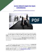 8 Tipos de Acoso Laboral Según Las Leyes Colombianas