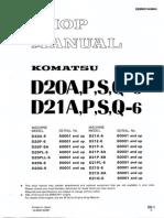 Shop Manual Komatsu D20A,P,S,Q-6 AND D21A,P,S,Q-6