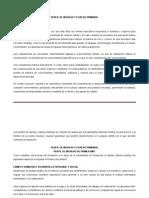 Perfil de Ingreso y Egreso Primaria