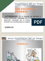 Actividades Culturales y Recreativas