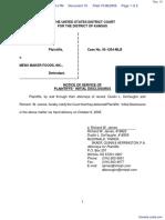 Monsour et al v. Menu Maker Foods Inc - Document No. 10