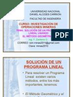 IMVESIGACION DE OPERACIONES MINERAS CON EL MÉTODO GEOMETRICO
