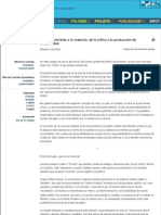 Maurizio Lazzarato_ Del Conocimiento a La Creencia, De La Crítica a La Producción de Subjetividad _