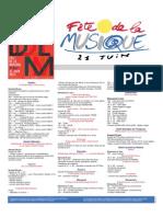 Programme Officielle 21 Juin 2015 #FDLM