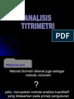 Pertemuan 4 Analisis Volumetri