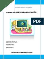 Uso de Las Tics en La Educacion