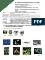 IB BIOLOGY TOPIC 5 ECOLOGY