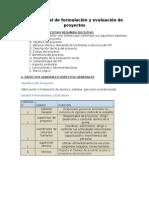 Trabajo Final de Formulacion y Evaluacion de Proyectos
