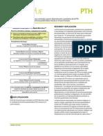 Un inmunoensayo enzimático para la de terminación cuantitativa de la PTH   (hormona paratiroidea) intacta en el suero humano